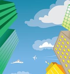 Skyscraper Building Perspective vector image