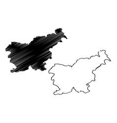 slovenia map vector image