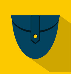Small blue pocket icon flat style vector