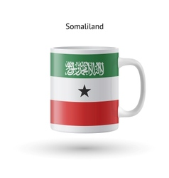 Somaliland flag souvenir mug on white background vector