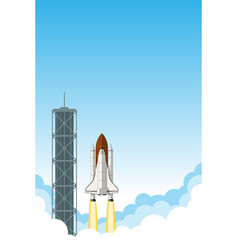 Space shuttle launch background with room for text vector