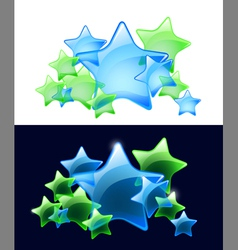 Stars with transparency vector