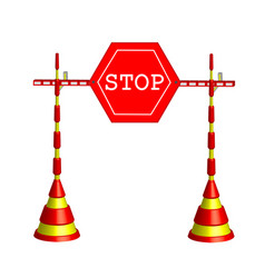 symbolic stop vector image