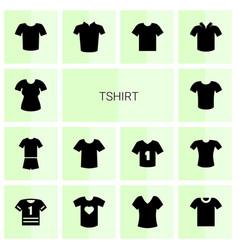 tshirt icons vector image