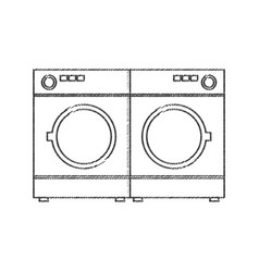 Two washing machine appliance vector