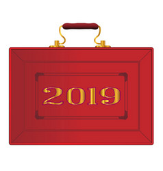 United kingdom red budget box 2019 vector