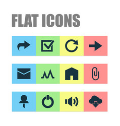 User icons set collection of forward button vector
