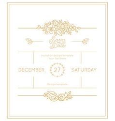 Wedding invitation design template vector