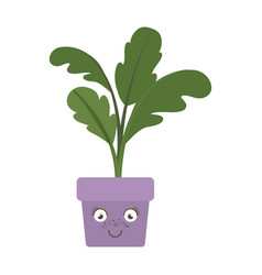 white background with caricature of beet plant in vector image