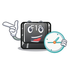 with clock button f10 on a keyboard character vector image