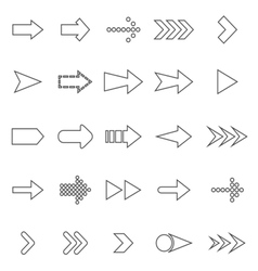 Arrow line icons on white background vector image