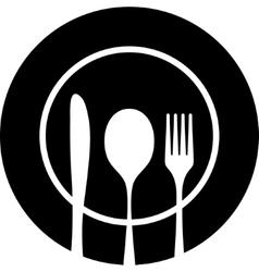 Cutlery black silhouette vector image vector image