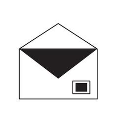 open envelope icon vector image