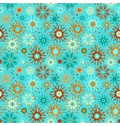 Seamless pattern with doodle ornament vector image