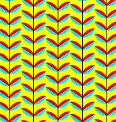 Seamless Patternt with Abstract Leaves Background vector image vector image