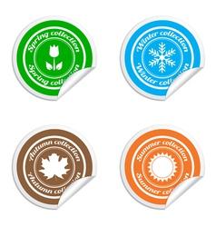 Season stickers vector image