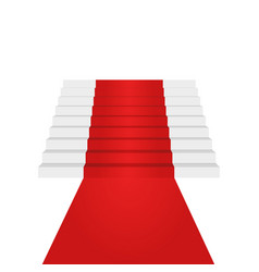 stairs up design element red carpet background vector image vector image
