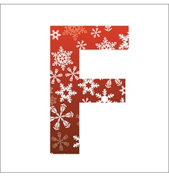 F Letter vector image vector image