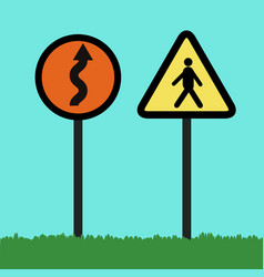 flat traffic signs vector image