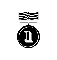 Gold medal icon simple style vector image