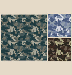 khaki seamless pattern camouflage texture vector image vector image