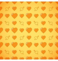 Lovely heart romantic pattern vector image