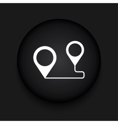 modern map pointer black circle icon vector image vector image