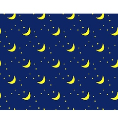 night sky pattern moon and stars vector image