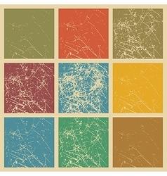 Set of scratched vintage grunge background vector image