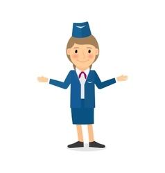 Stewardess character vector image