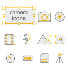 thin line icons set linear symbols set vector image vector image
