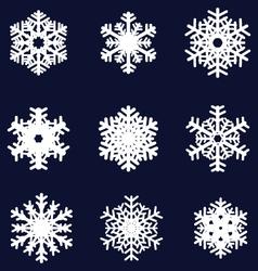white snowflakes vector image