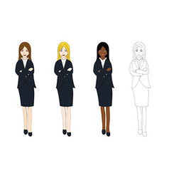 Business Woman Arm Folded vector image