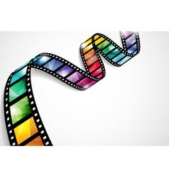 Colorful film strip vector