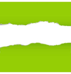 Green Torn Paper Borders Background vector image vector image