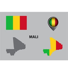 Map of Mali and symbol vector image vector image