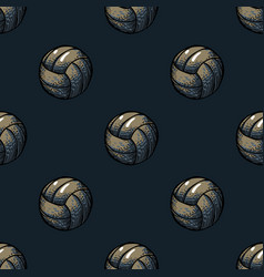 playing ball seamless pattern vector image