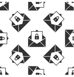 secure mail seamless pattern on white background vector image