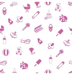 baby icons pattern vector image vector image