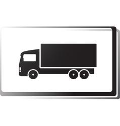 Black truck in frame vector