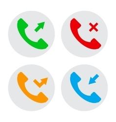 Circle phone icons vector image vector image