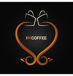 coffee cup love concept background vector image vector image