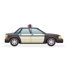 Retro Police Car Icon Isolated Realistic 3d Design vector image