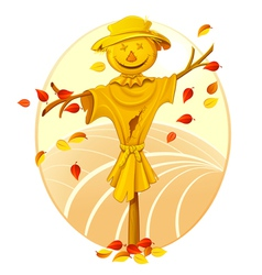 smiling scarecrow vector image vector image