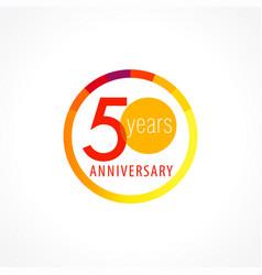 50 anniversary circle logo vector
