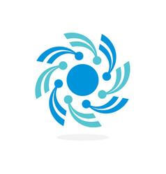 Abstract circle logo design vector