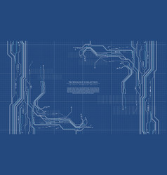 abstract digital technology futuristic vector image