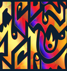 abstract gold flame pattern vector image