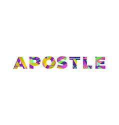 Apostle concept retro colorful word art vector