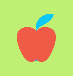 Apple icon in trendy flat style isolated vector